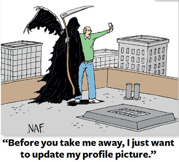« Avant de m'envoyer à la mort, je voudrais juste changer ma photo de profile. »