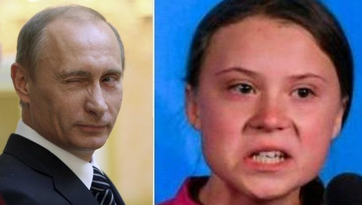[VIDEO] Vladimir Poutine dénonce l'instrumentalisation de Greta Thunberg